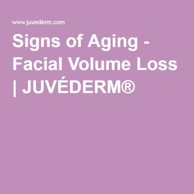 Signs of Aging - Facial Volume Loss | JUVÉDERM®
