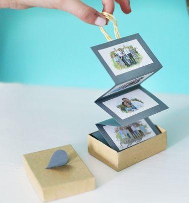 DIY Accordion family photo box - creative gift idea // Harmonika fotóalbum papírból dobozban - kreatív ajándék // Mindy - craft tutorial collection