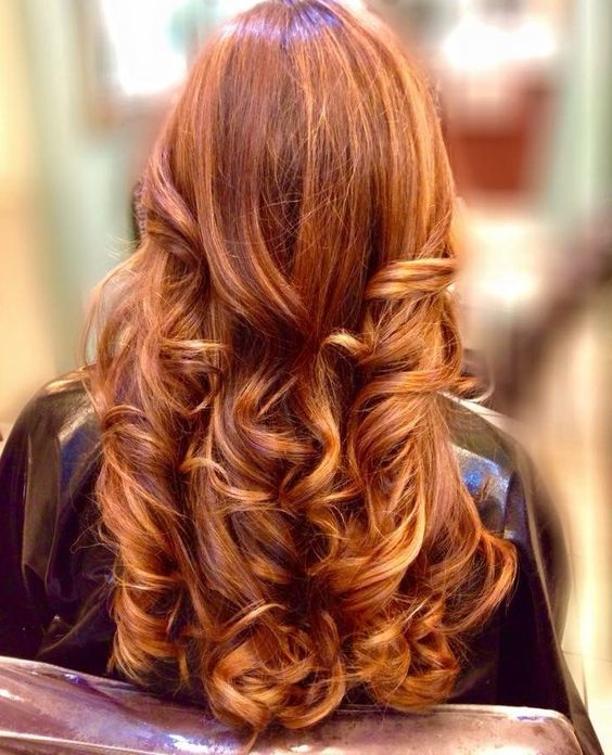 Best 25 red hair with highlights ideas on pinterest red copper red and gold balayage highlights with long hair and layers pmusecretfo Image collections