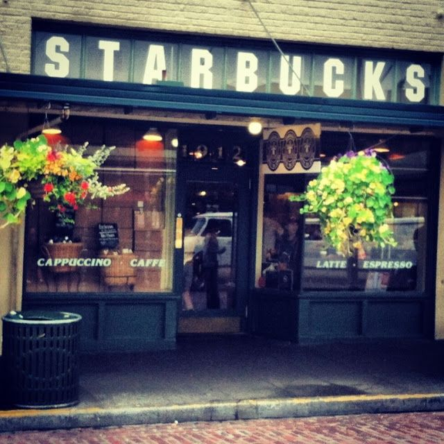 The Very First Starbucks! Seattle. Picture by my hubbs. http://365daysofmystyle.blogspot.com/2013/08/today-in-closet.html
