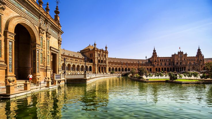 Plaza de España, Spain wallpaper  Today's fresh wallpaper: Seville, Spain cityscape with Plaza de Espana buildings one of Spain's timeless architectural heritage #wallpaperstudio10 #wallpaper #seville #madrid #spain #europe #andalusia #cityscape #architectural #heritage