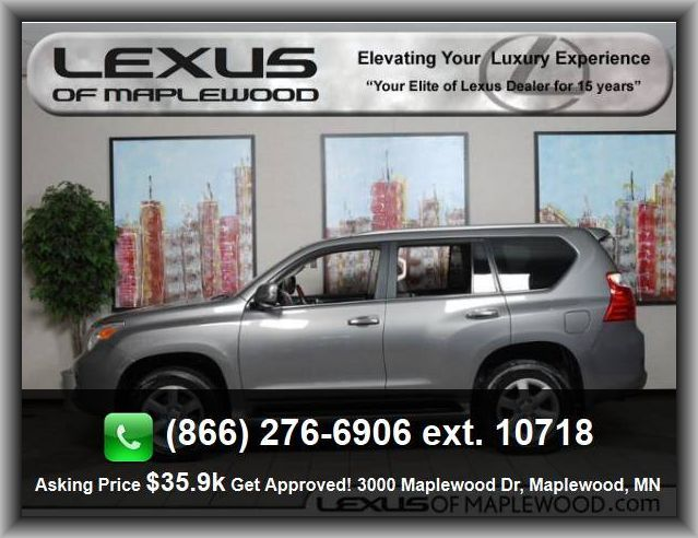 2010 Lexus GX 460 Base SUV   Overhead Console: Mini With Storage, Heated Passenger Mirror, Gross Vehicle Weight: 6, Instrumentation: Low Fuel Level, In-Dash 6-Disc Cd Player, Video Monitor Location: Front,