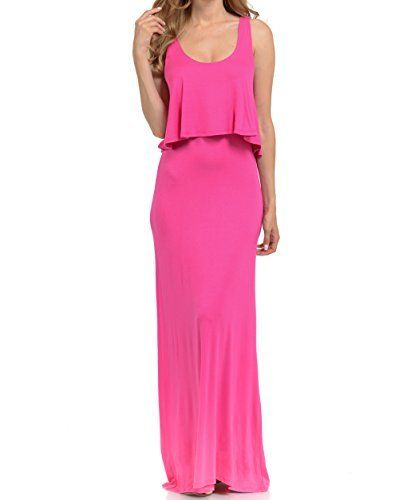New Trending Formal Dresses: Basico Women's Maxi Dress Sleeveless Tube Top (Medium, #1669 Fuchsia). Basico Women's Maxi Dress Sleeveless Tube Top (Medium, #1669 Fuchsia)   Special Offer: $14.74      344 Reviews 95% Rayon 5% Spandex :Rayon Stretch Jersey Fabric. Loose fitting tank tunic with a trapeze hem and flowy feel.Hand wash cold. Do not bleach. Dry flat. Iron low.Gorgeous...