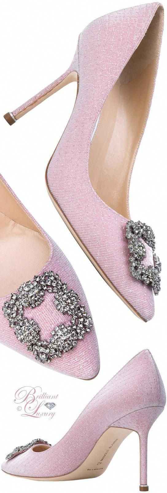 Brillanter Luxus von Emmy DE ♦ Manolo Blahnik Hangisi Pumps #ManoloblahnikHeels