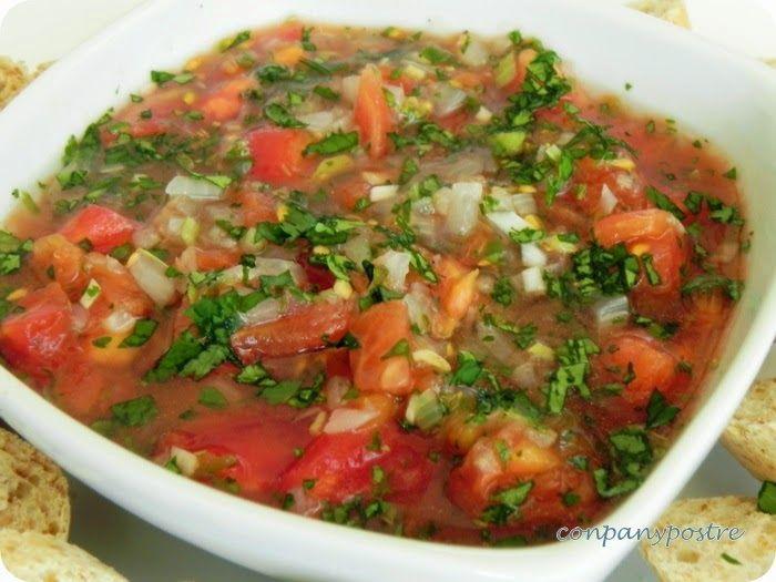 Con pan y postre: Pebre con tomates, receta chilena