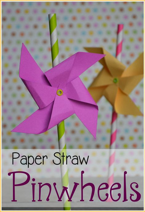 Create these super easy and super cute paper pinwheels to decorate straws for a party! Can also be used for centerpieces, garland, or other party decor! #merrymonday #silhouette