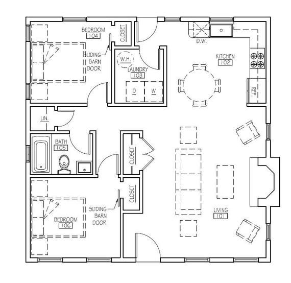 The Patagonia (30'x30') in 2019   Cabin   Square house plans