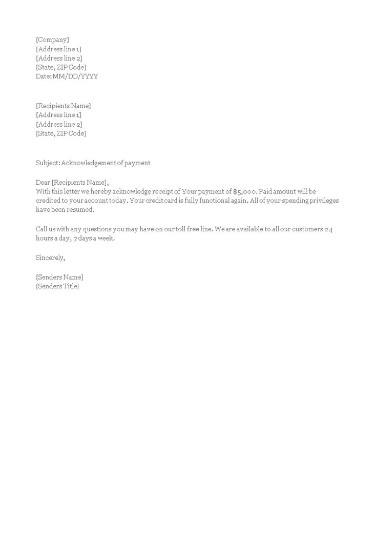 final payment acknowledgement letter  how to write a