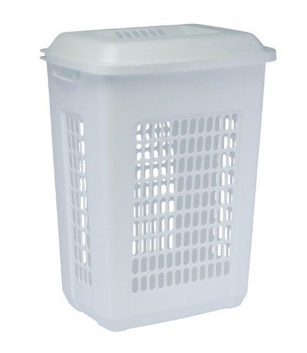 United Solutions Ln0033 Rectangular Two Bushel White Laundry Hamper With Lid-2 Bushel Capacity Hamper And Lid In White, 2015 Amazon Top Rated Laundry Hampers #Home