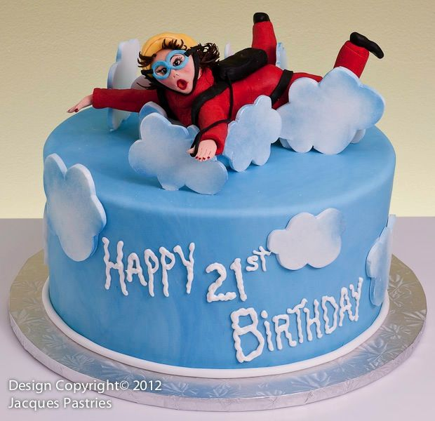 Sky Diving Cake I Want One For My Birthday
