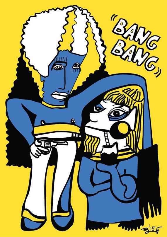 BANG BANG - digital download, digital art work, colorful poster, colorful home decor