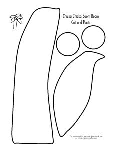 Chicka Chicka Boom Boom tree cutout. This is a great template for my Top Bananas tree!