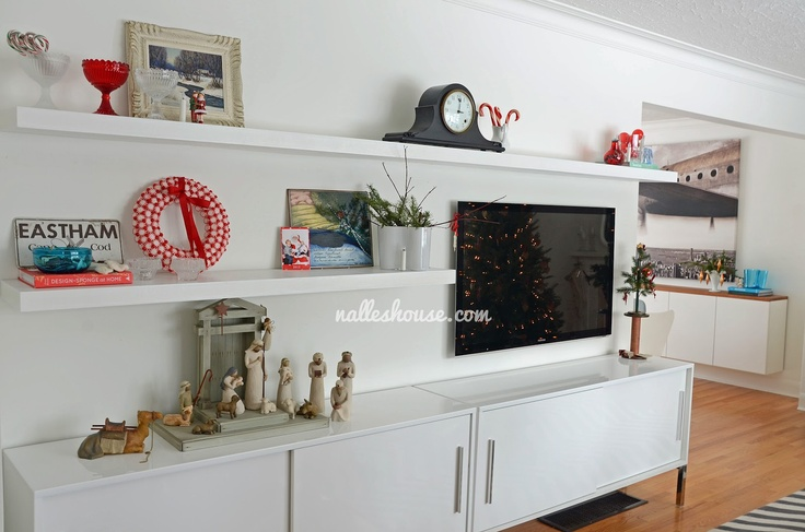 Nalle's House: DIY Entertainment Unit - Ikea units and floating shelves