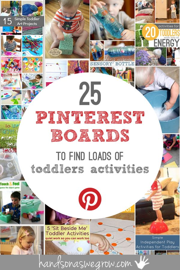 Pinterest toddler activities --- 25 boards to follow!