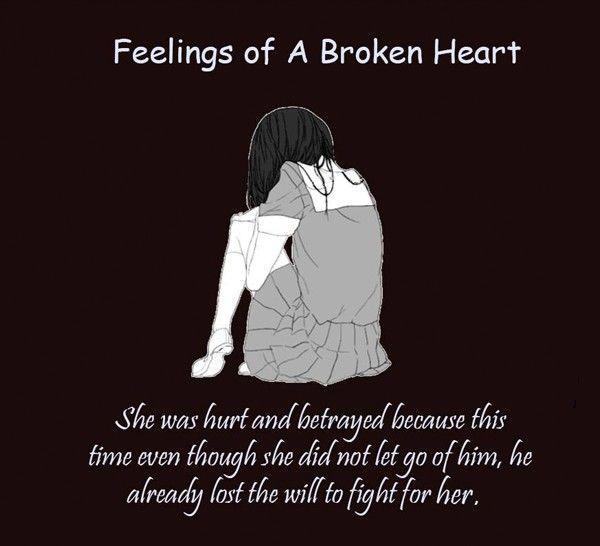 Feelings Of A Broken Heart Broken Heart Feelings Broken