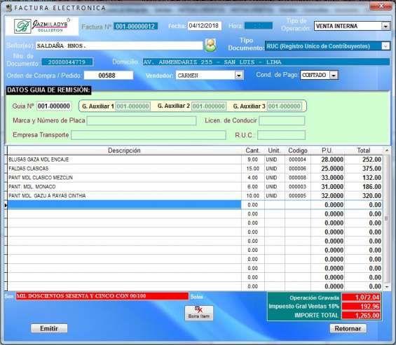 Software Sistema De Facturación Electrónica D Fácil Uso P Emp Pymes C Facilidad De Pago Map Map Screenshot