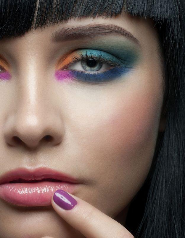 Броский макияж для серо-голубых глаз ::: onelady.ru ::: #makeup #eyes #eyemakeup