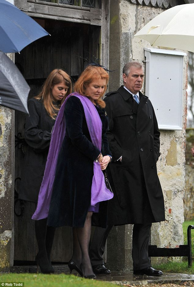 The Duchess of York with ex-husband Prince Andrew and their eldest daughter Princess Beatrice