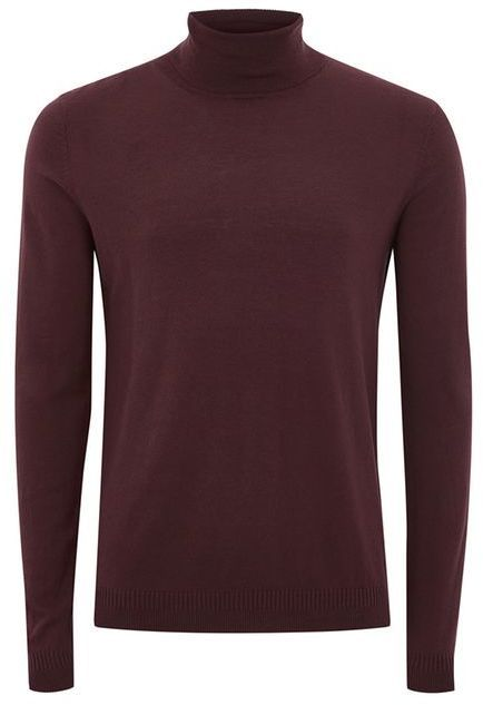 Topman Berry Twist Roll Neck Sweater