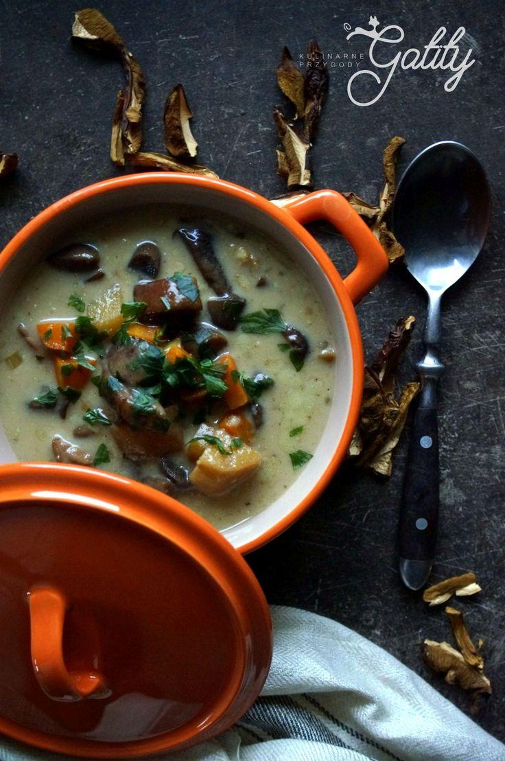 Kulinarne przygody Gatity - przepisy pełne smaku: Jesienna zupa grzybowa