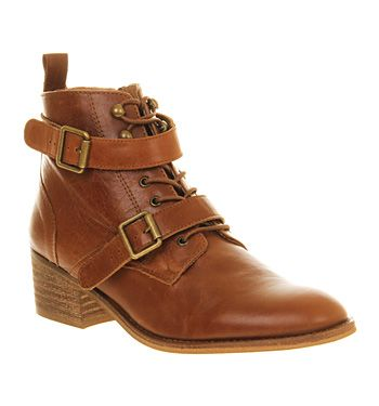Office Domino Strap Ankle Boot New Tan Leather - Ankle Boots