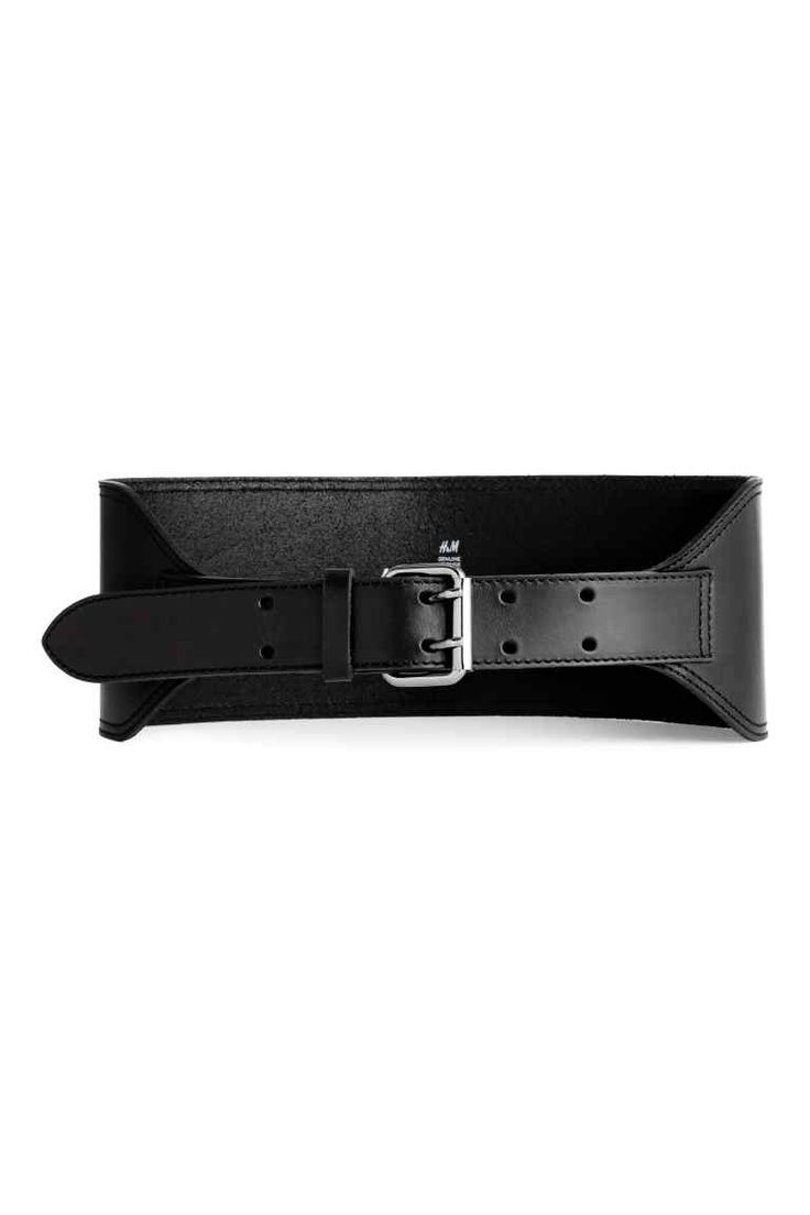 Leather waist belt: PREMIUM QUALITY. Wide waist belt in leather with a metal buckle. Width 10 cm at the back, 3.5 cm at the front.
