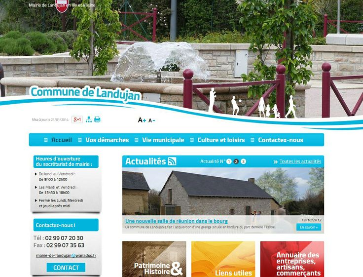 Site internet de la mairie de Landujan en Ille et Vilaine, commune faisant partie de la Communauté de Communes de Montauban-de-Bretagne / Saint-Méen-le-Grand