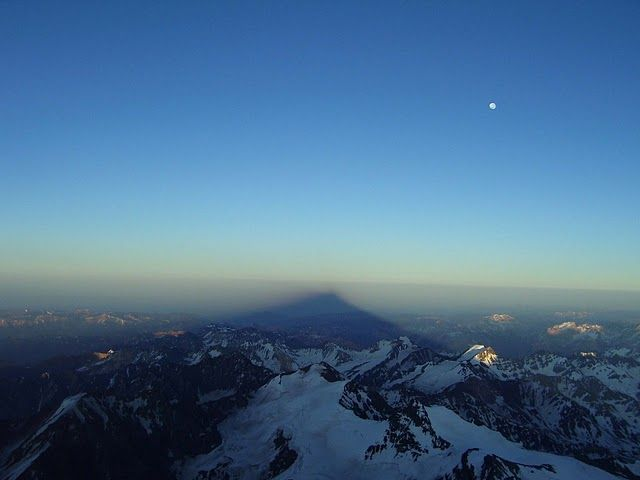 Mt Aconcagua - Sunrise on the way to the summit 2009
