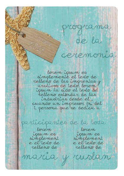 Programa de la ceremonia