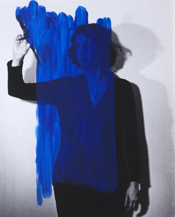 Helena Almeida, inhabited Painting, 1975, acrylic on black and white photo.