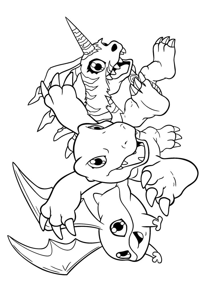 Digimon Coloring Pages 210 2400x3300