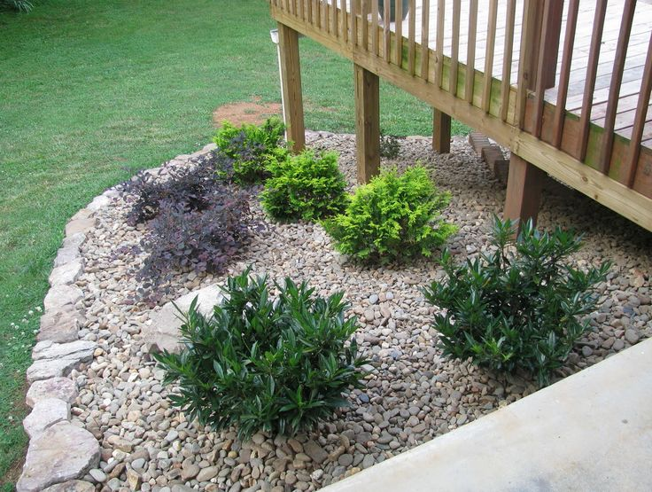 Landscaping Around Deck Posts