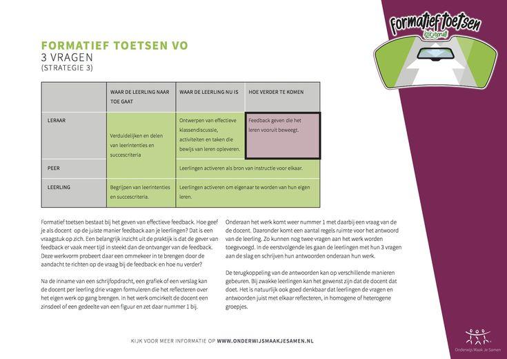 Formatief Toetsen - Drie vragen - strategie 3