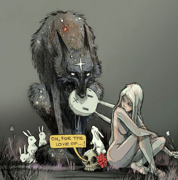 Assim é a arte de Chiara Bautista: hqs, criaturas misteriosas, contos de fadas, religião, música, animais, amor, traição, tristeza, .. um pouco de alguns ou muito de todos.