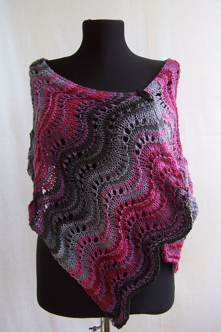 handknit multicolor raspberry pink gray black mens womens teens scarf wrap cozy for cold season by DandelionwineMP on Etsy