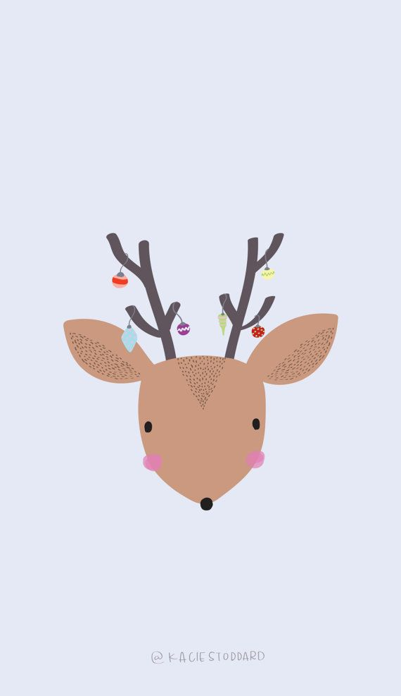 Reindeer Christmas Screensaver Download by artworkbykacie on Etsy