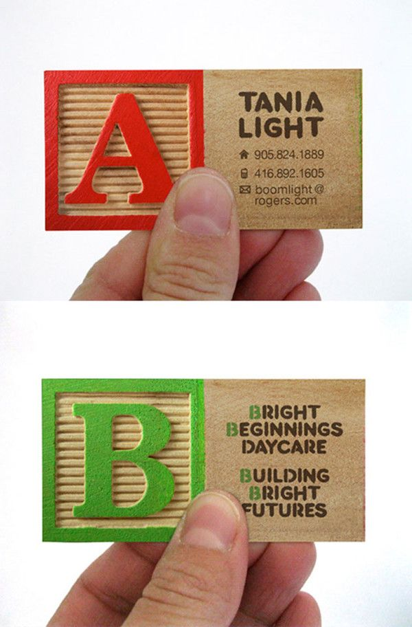 Bright Beginnings Daycare Business Card