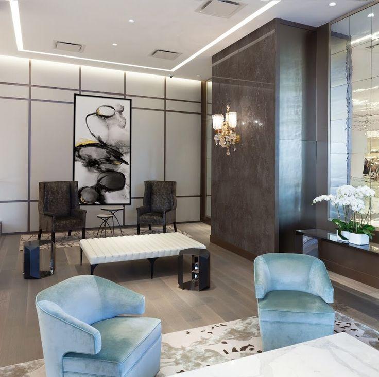 Plaza 400 lobby lounge area renovation with custom furniture designed by jse design plaza400 interiordesign luxuryinteriordesign luxurydesign