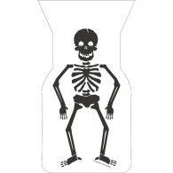 Skull Terror Skeleton Cello Bags with Ties, Pkt20, $8.95, 20071225