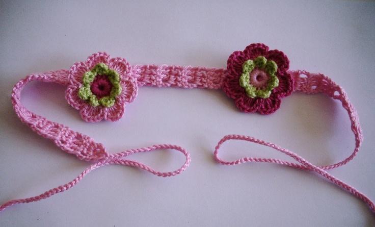 Smal haarbandje met 2-laags bloemetjes