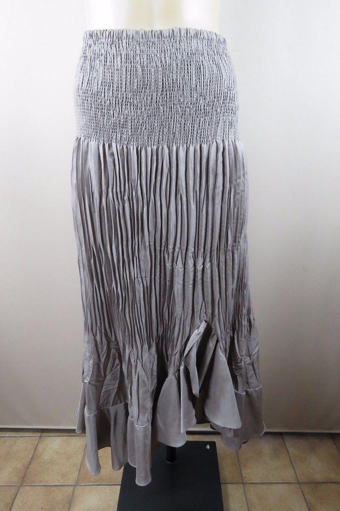 Size L 14 Liz Jordan Ladies Skirt Vintage Peasant Boho Chic Cocktail Design  | eBay