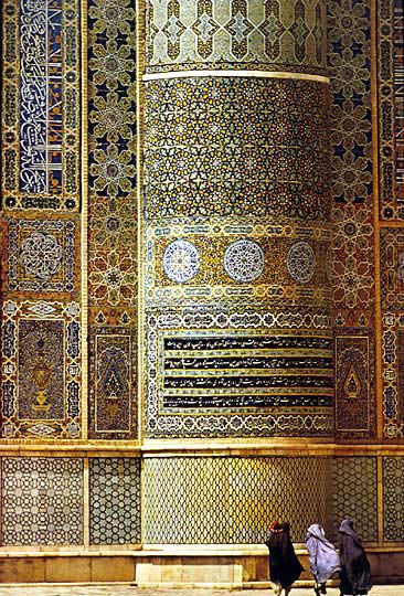 The Majsjid-i-Jami, or Friday Mosque, Afghanistan: Beautiful Mosques, Green Wall, Beautiful Afghanistan, Roland Michaud, Green Mosaics, Islam Architecture, De Roland, Thanksafghanistan Awesome, Middle East