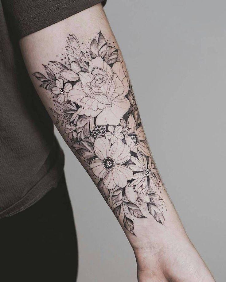 Tattoo-Unterarm, halbe Manschette und voller Arm – Ideen für eine kluge Wahl