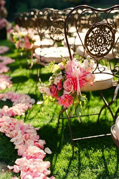 Beautiful flower decor for garden/ outside weddings