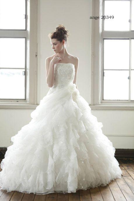 ウェディングドレス ange 20349|ウェディングドレスのレンタルなら大阪ピノエローザへ