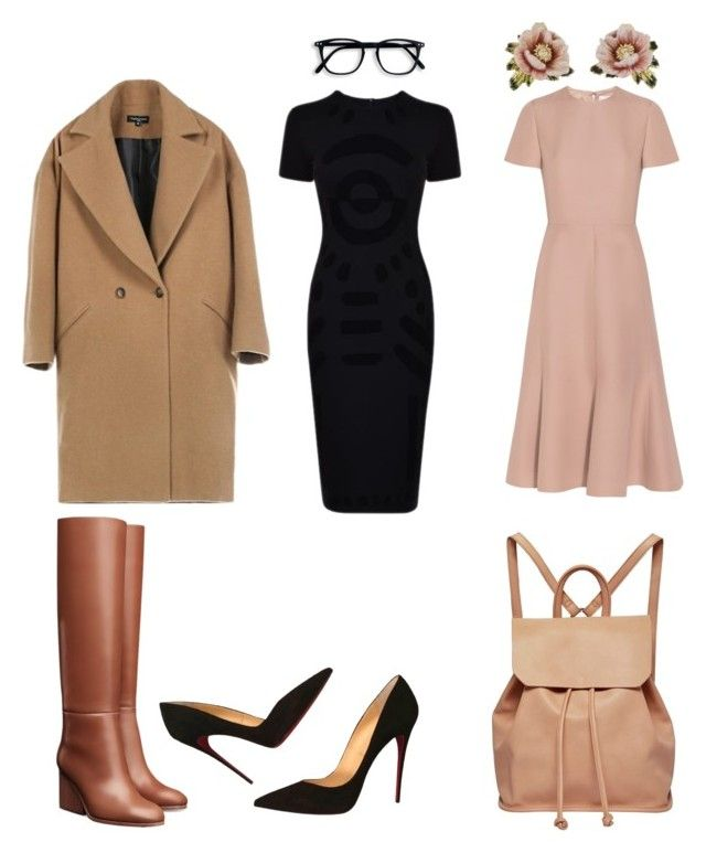 дресс-код Брусника by christi81 on Polyvore featuring polyvore fashion style Valentino McQ by Alexander McQueen Christian Louboutin Urban Originals Les Néréides clothing
