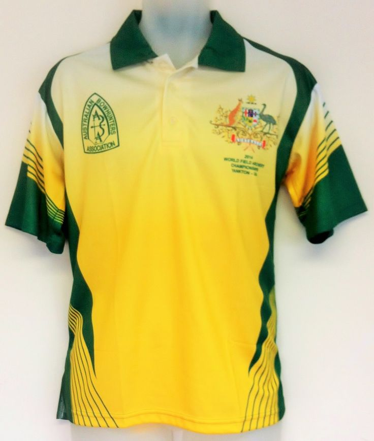 Here is a yellow and green sublimated polo shirt designed for Custom polo shirt design