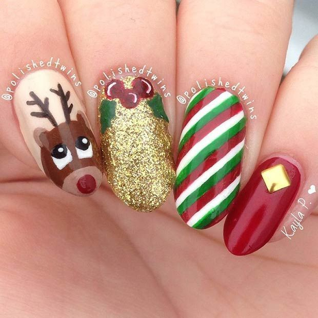 awesome 31 Christmas Nail Art Design Ideas | StayGlam - My blog Mihaivrajeala99