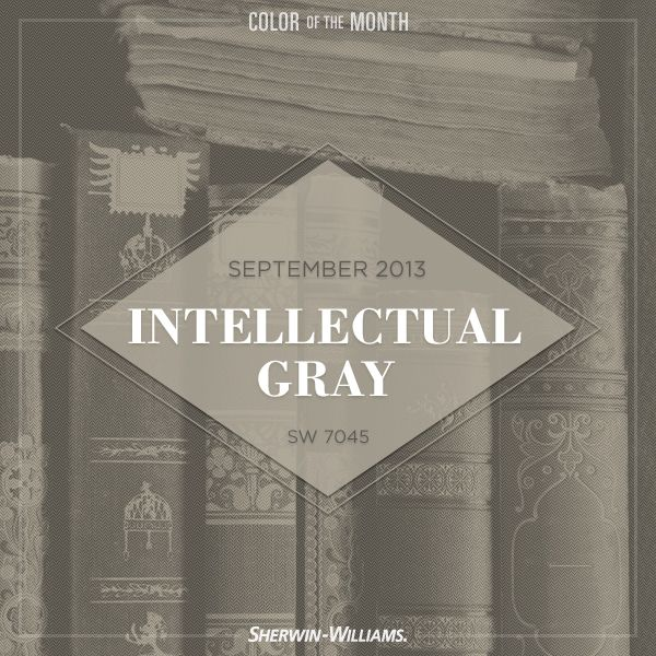 Intellectual Gray (SW 7045) seemed like a smart choice for September color of the month.