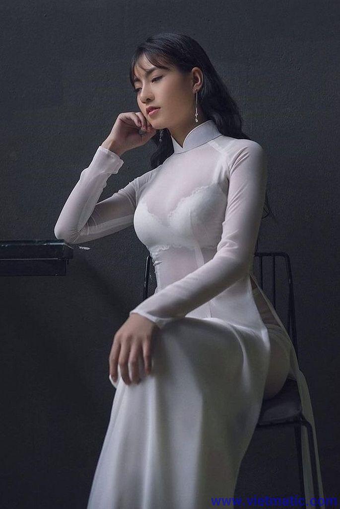 Nét Đẹp Áo Dài Việt Nam   Gái Xinh Dễ Thương CHU THỊ THU HUYỀN